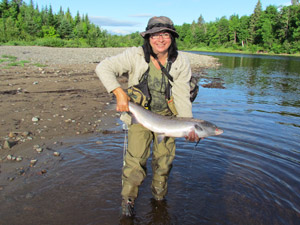 Aline Savoie caught this beauty on the Renous, July 23