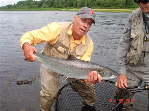 Henry Reusch with a nice Mountain Channel salmon