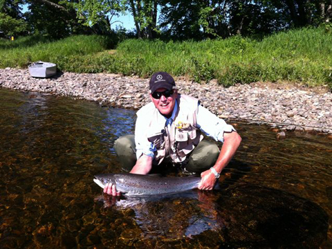 Alan DeWinter with a nice July salmon