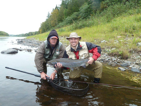 Nice hen salmon taken by Travis at Mountain Channel with the assistance of guide Boyd Curtis.