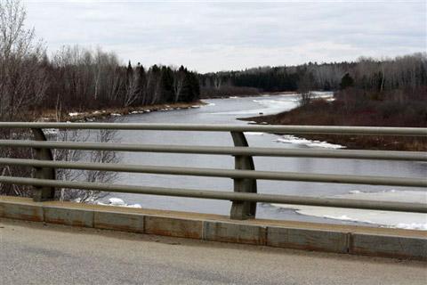 Photo taken by Dave Ingersoll on Tuesday, April 9 upstream from Wayerton Bridge