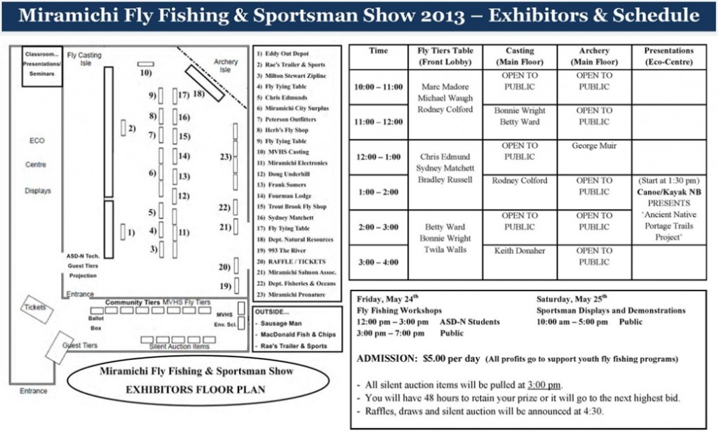 Program for Miramichi Fly Fishing and Sportsman Show