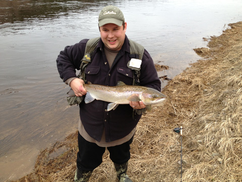 George Daneluk who caught and released this beautiful salmon on Friday April 19