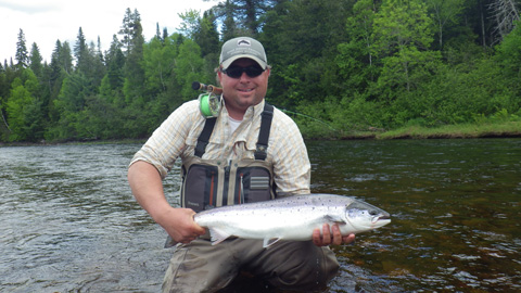 Derek Munn on tributary of the Main Southwest Miramichi