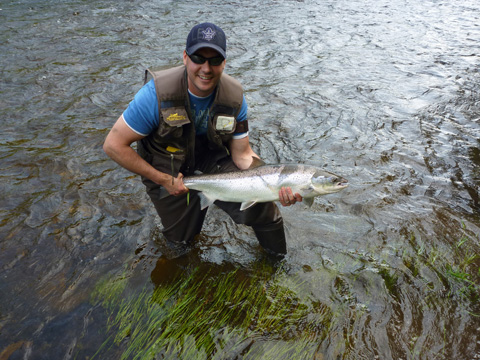 Jeff Morris caught this salmon on the Northwest on May 31