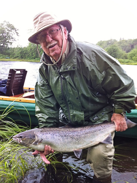 Laurent St. Pierre with a nice hen fish.laurent