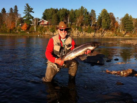 Tom Kleeman with a nice salmon from Big Hole